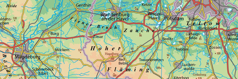 physische karte brandenburg weitere Karten   LGB_Startseite